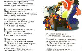 Маршак «сказка о глупом мышонке» текст распечатать
