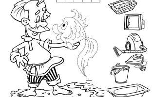 Загадки раскраски по сказкам для детей 5-6-7 лет с ответами