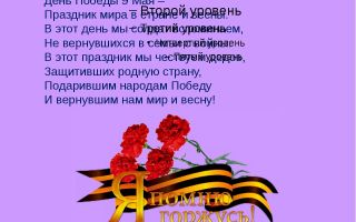 Сценарий праздника ко дню победы, 6-7 класс