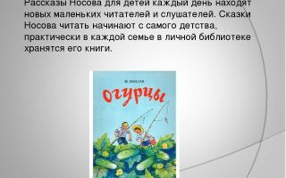 Рассказы носова для детей читать