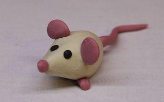 Мышонок из пластилина своими руками поэтапно с фото для детей 5-7 лет