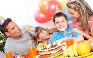 Семейный праздник дома. сценарий