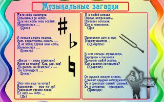 Загадки о музыкальных инструментах для детей 5-6-7 лет с ответами