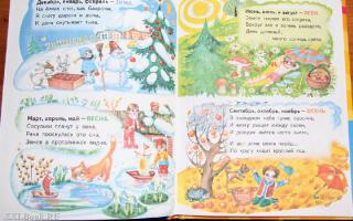 Стихи о временах года для школьников, 1-3 класс