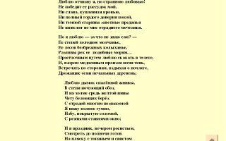 Лермонтов. стихотворение «родина»
