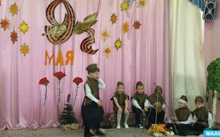 Сценарий концерта ко дню победы в детском саду
