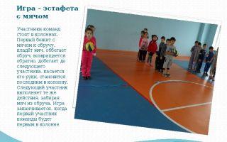 Спортивная игра – эстафета для школьников 6-7 класса