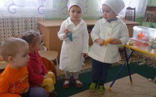 Сюжетно — ролевые игры в больницу в младшей группе