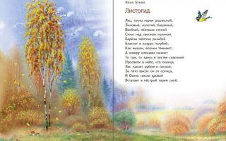 Стихи об осени русских поэтов для школьников 4 класса